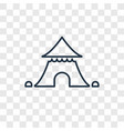 circus tent concept linear icon isolated on vector image