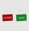closed and open store sign vector image