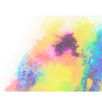 colorful abstract background watercolor vector image vector image