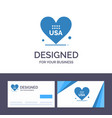 creative business card and logo template heart vector image vector image