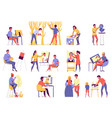 creative professions icons set vector image vector image