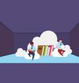 data storage synchronization cloud center vector image