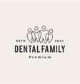 dental family community team hipster vintage logo vector image vector image