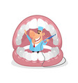 dentist in the mouth vector image