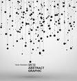 Dot and line consisting of abstract graphics vector image vector image