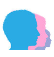 family face silhouette vector image