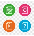 File edit icons Question help signs vector image vector image