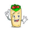 finger burrito mascot cartoon style vector image
