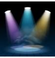 floodlight spotlight illuminates scene background vector image