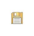 Floppy disk computer symbol vector image vector image
