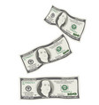 flying falling 100 dollar bills vector image