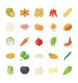 food ingredients icon pack vector image