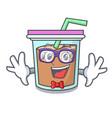 geek bubble tea character cartoon vector image vector image