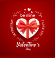 gift box heart shape with red bow ribbon vector image