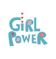 girl power design element can be used for vector image