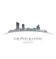 Grand Rapids Michigan city skyline silhouette vector image vector image