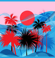 graphics tropical landscape vector image vector image