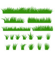 grass borders set green tufts vector image