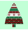 Holiday box in the shape of a Christmas tree vector image
