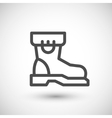 Industrial boot line icon vector image vector image