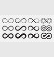 infinity loop logo icon unlimited infinity vector image vector image