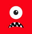 monster head boo spooky sad face emotion three vector image