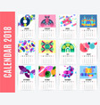 monthly calendar design set vector image vector image