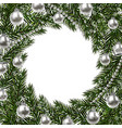new year christmas a green branch of spruce in a vector image vector image