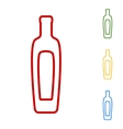 Olive oil bottle sign Set of line icons vector image vector image