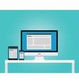 online news newspaper responsive multi platform vector image vector image