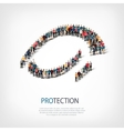 protection people sign 3d vector image vector image