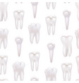 realistic detailed 3d white healthy teeth seamless vector image vector image