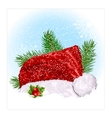 Santas Christmas hat vector image