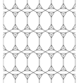 Seamless Geometric Pattern Black And White vector image vector image
