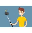 Selfie photo shot man or boy portrait vector image vector image