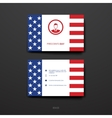 Set of Design Business Card Template in Presidents vector image vector image
