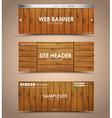 set of wooden web header vector image vector image