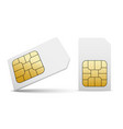 sim card mobile phone icon chip simcard vector image