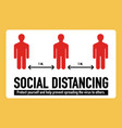 social distancing stop covid-19 coronavirus vector image vector image