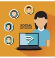 social network media isolated icon vector image vector image