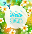 Speech bubble with summer greeting vector image vector image