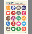 Sport web icons set drawn by chalk vector image vector image