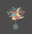 spring bouquet of flowers and hearts vector image vector image