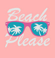sunglasses with palms reflection sunglasses vector image