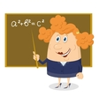 Teacher woman with blackboard vector image