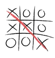tic-tac-toe winning vector image