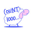 typography slogan with cute sheep and text count vector image vector image