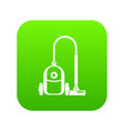 vacuum cleaner icon digital green vector image