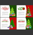 warm wishes on christmas holidays greeting cards vector image vector image