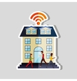wifi service design vector image vector image